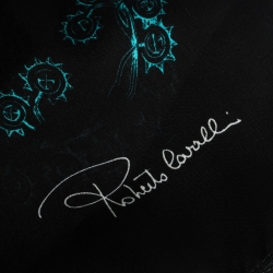 Roberto Cavalli Multicolor Abstract Print Silk Scarf