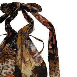 Roberto Cavalli Cheetah Print Skirt Set L