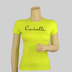 Roberto Cavalli Green Logo T-shirt Size S