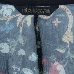 Roberto Cavalli Floral Silk Chiffon Blouse