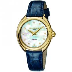 Rochas Champagne MOP Gold Plated Stainless Steel RP2L006L0031 Women's Wristwatch 34MM