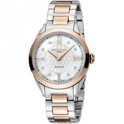 Rochas Silver Rose Gold-Plated Stainless Steel RP2L016M0051 Women's Wristwatch 34MM