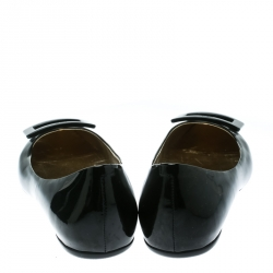 Roger Vivier Black Patent Leather Gommette Ballet Flats Size 38