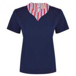 Roksanda Ilincic Aubin Navy Wool and Silk Top M