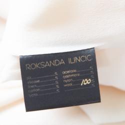 Roksanda Ilincic Cream Wool Crepe Oversized Selsy Top M