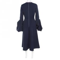Roksanda Midnight Blue Stretch Crepe Aylin Midi Dress M