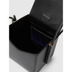Roksanda Black Scarf-Handle Leather Box Bag One Size