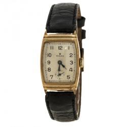 Rolex Cream 9K Yellow Gold Vintage Women's Wristwatch 21 mm