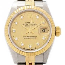 b4f28912f ساعة يد نسائية رولكس ديت جست ستانلس ستيل وذهب أصفر عيار 18 شامبانيا 26 مم