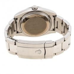 Rolex Black Stainless Steel Oyster Perpetual Date 115234 Women's Wristwatch 34 mm