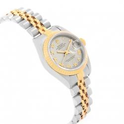 Rolex Slate 18K Yellow Gold and Stainless Steel Datejust 69173 Women's Wristwatch 26MM