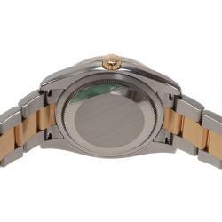 Rolex Black Stainless Steel DateJust Women's Wristwatch 42MM