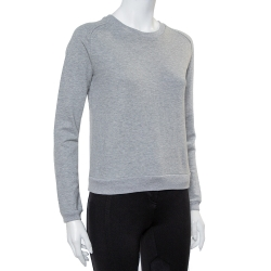 Yves Saint Laurent Grey Cotton Crewneck Sweatshirt M