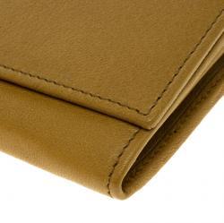 Saint Laurent Paris Tan Leather Y Line Flap Wallet