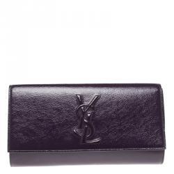 Saint Laurent Purple Patent Leather Belle De Jour Clutch