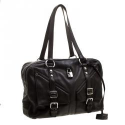 Saint Laurent Black Leather Satchel