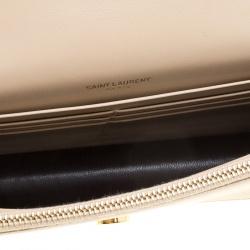 Saint Laurent Paris Beige Leather Kate Tassel Wallet On Chain