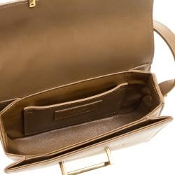Saint Laurent Brown Leather and Suede Lulu Crossbody Bag