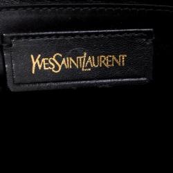 Saint Laurent Paris Black Leather Oversized Muse Tote