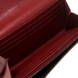 Saint Laurent Red Leather Y Line Continental Wallet