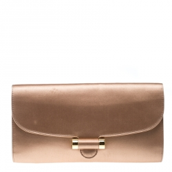 c254ac093e64 Saint Laurent Dusty Pink Satin Sac Muse Clutch