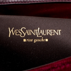Saint Laurent Red Velvet Venise Shoulder Bag