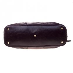 Saint Laurent Purple Leather Oversized Muse Bag