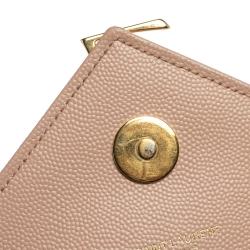 Saint Laurent Peach Matelasse Leather Large Cassandre Flap Bag