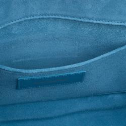 Saint Laurent Paris Blue Classic Y-Line Clutch Bag