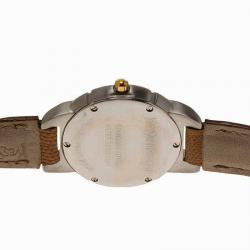 Saint Laurent Paris White Gold-Plated Stainless Steel Classic Women's Wristwatch 28MM