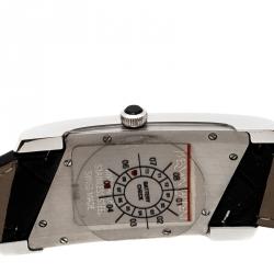 Yves Saint Laurent Paris Black Stainless Steel Rive Gauche Women's Wristwatch 24 mm