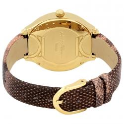 Salvatore Ferragamo Pink Gold Plated Stainless Steel FIZ050015 Women's Wristwatch 38MM