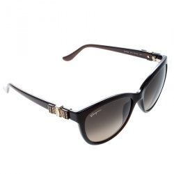 Salvatore Ferragamo Brown SF760S Cat Eye Sunglasses