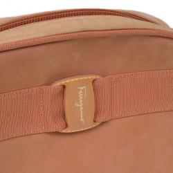 Salvatore Ferragamo Orange Suede Small Shoulder Bag