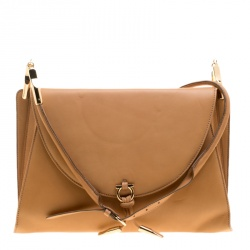 8612d509f8 Salvatore Ferragamo Brown Soft Leather Shoulder Bag
