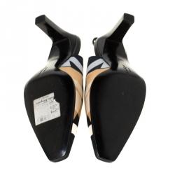 Salvatore Ferragamo Multicolor Satin Slingback Sandals Size 37