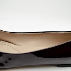Salvatore Ferragamo Varina Two Tone Patent Leather Ballerina Flats Size 40