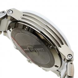 Salvatore Ferragamo White Ceramic And Titanium F-80 Women's Wristwatch 38 mm