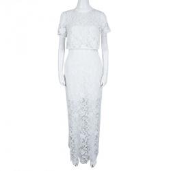 فستان زفاف سيلف بورتريه مارسيلا دانتيل جيبير بكاب مزين M