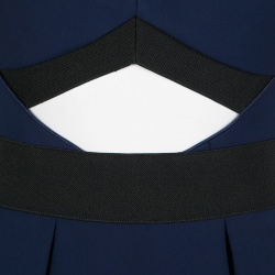 فستان سيلف بورتريه لولو أزرق كحلي بلا حمالات S