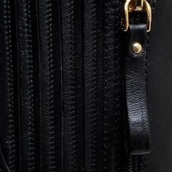 Sergio Rossi Black Leather Zip Platform Knee Length Boots Size 36