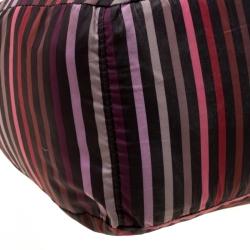 Sonia Rykiel Multicolor Striped Nylon Tote
