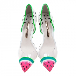 Sophia Webster Multicolor PVC and Leather Jessica Watermelon Pumps Size 38