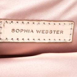 Sophia Webster Multicolor Glitter Leather Ice Queen Speech Bubble Clutch Bag