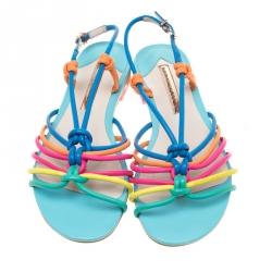 Sophia Webster Multicolor Leather Cord Copacabana Flat Sandals Size 37.5