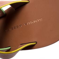 Sophia Webster Brown Leather Samara Strappy Wedge Platform Sandals Size 36