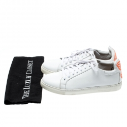 Sophia Webster White Leather Bibi Butterfly Sneakers Size 40