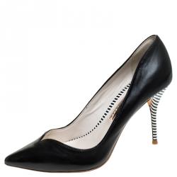 Sophia Webster Black Leather Lyla Pumps Size 37