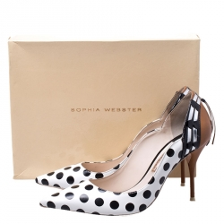 Sophia Webster Multicolor Polka Dot Leather Liberty Pointed Toe Pumps Size 40