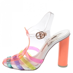 Sophia Webster Multicolor Jelly Rosa Bow Ankle Strap Sandals Size 37